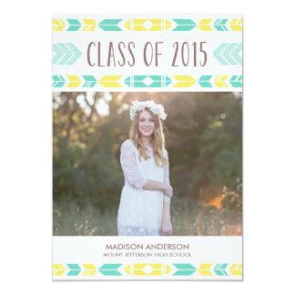 Navajo Blue & Yellow | Graduation Invitation