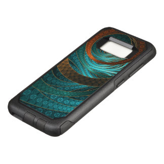 Navajo Bracelets in Turquoise, Gold & Brown Bands OtterBox Commuter Samsung Galaxy S8 Case