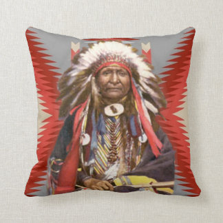 Navajo Chief Throw Pillow
