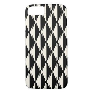 Navajo Geometric Diamond Pattern Black and White Case-Mate iPhone Case