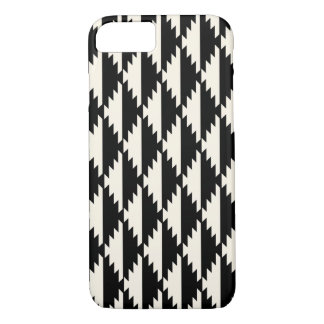 Navajo Geometric Diamond Pattern Black and White iPhone 8/7 Case