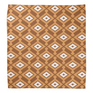 Navajo Ikat Pattern - Brown, Rust and Cream Bandana
