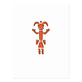 Navajo Kachina - Southwest Indian Design Postcard