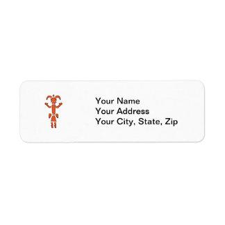 Navajo Kachina - Southwest Indian Design Return Address Label