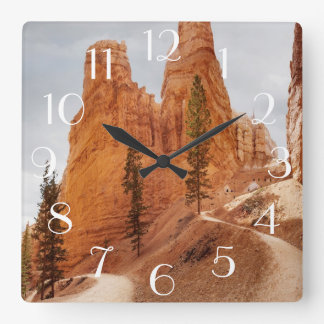 Navajo Loop Trail, Bryce Canyon Square Wall Clock