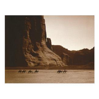 Navajo Riders in Canyon, 1904 Postcard