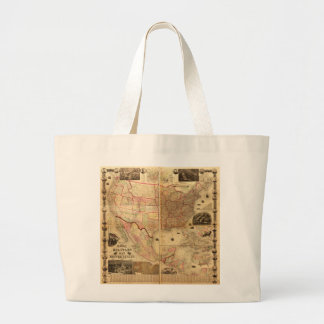 Naval and Military Map of the United States (1862) Jumbo Tote Bag