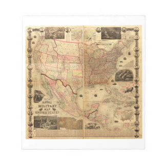 Naval and Military Map of the United States (1862) Notepads