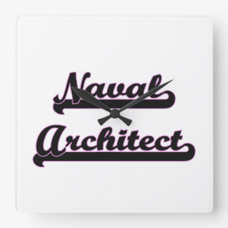 Naval Architect Classic Job Design Wallclock