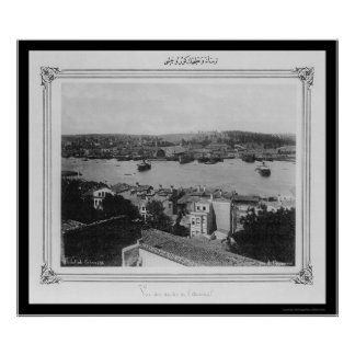 Naval Arsenal and Golden Horn Istanbul 1885 Poster