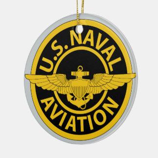 Naval Aviation - 2 Round Ceramic Ornament