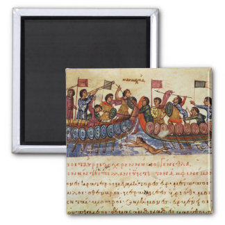 Naval Combat between two Ships Refrigerator Magnets