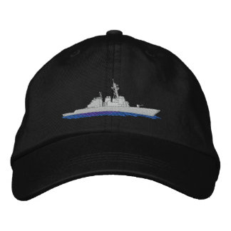 Naval Destroyer Embroidered Baseball Caps