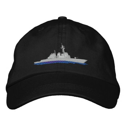 Naval Destroyer Embroidered Hats