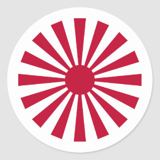 Naval Ensign Japan, Japan Classic Round Sticker