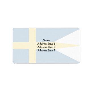 Naval Ensign Of Sweden, Sweden Label