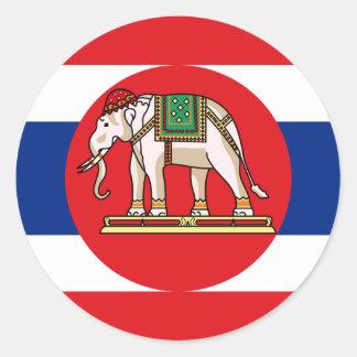 Naval Ensign Of Thailand, Thailand flag Classic Round Sticker