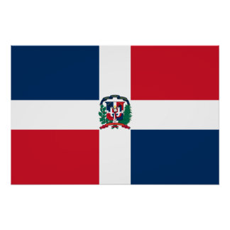 Naval Ensign Of The Dominican Republic, Dominica Poster