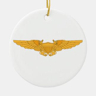 Naval Flight Officer Wings Ceramic Ornament