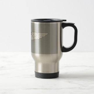 Naval Flight Officer Wings (NFO) - White Travel Mug