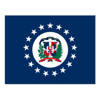 Naval Jack Of The Dominican Republic, Dominican Re Postcard
