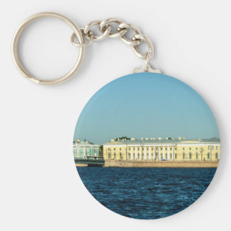 naval museum basic round button keychain