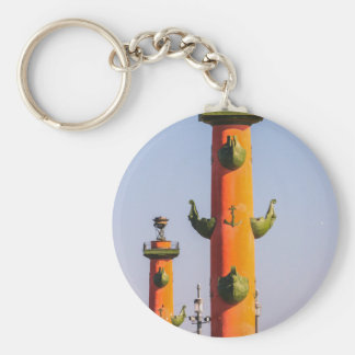 Naval Museum in Old Stock Exchange & Rostral Colum Basic Round Button Keychain