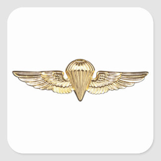 Naval Parachutist Square Sticker