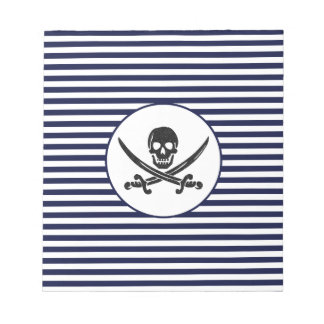 Naval Pirate Skull and cross bones Notepads