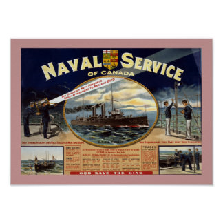 Naval Service of Canada border Poster