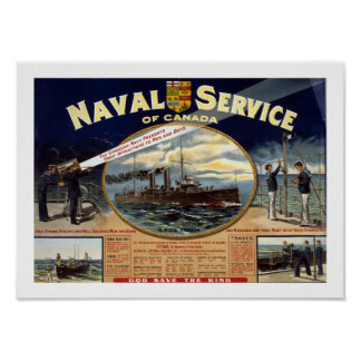 Naval Service of Canada (white) Print
