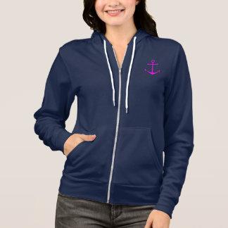 Naval ship anchor hoodie