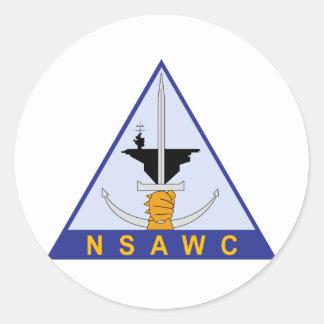 Naval Strike and Air Warfare Center (NSAWC) Classic Round Sticker