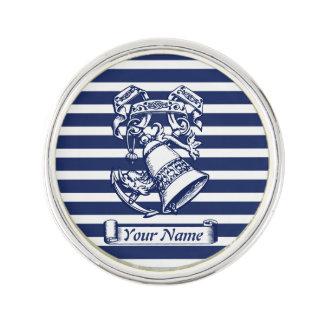 Naval style lapel pin
