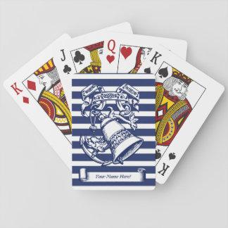 Naval style poker deck
