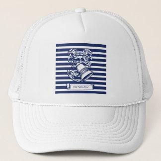 Naval style trucker hat