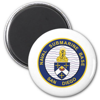 NAVAL SUBMARINE BASE San Diego CA Military Patch Magnet