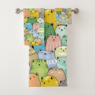 Nave Cats Bath Towel Set