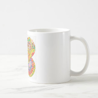 NAVEEN All Smiles: Abstract Flower Patterns Coffee Mug