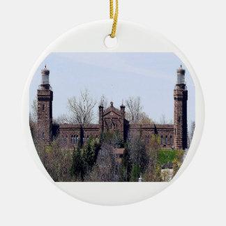 Navesink Twin Lights Lighthouse Ceramic Ornament