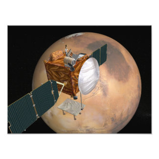 Navette spatiale de télécommunication de Mars Photos D'art