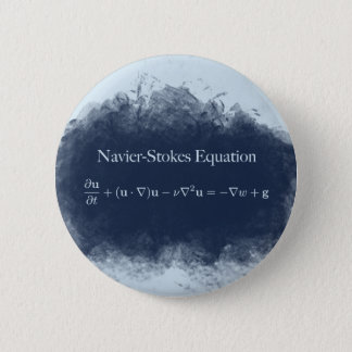 Navier Stokes Equation Math & Science Button
