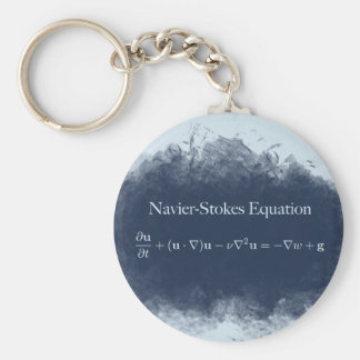 Navier Stokes Equation Math & Science Keychain