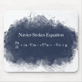 Navier Stokes Equation Math & Science Mouse Pad