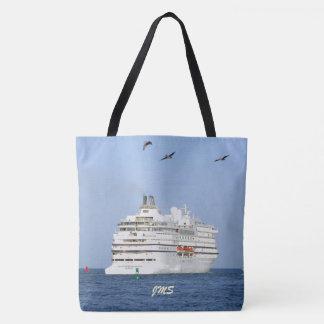 Navigating the Seas Monogrammed Tote Bag