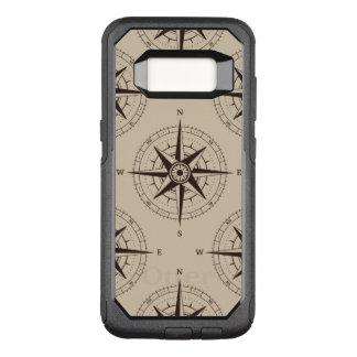 Navigation Compass Pattern OtterBox Commuter Samsung Galaxy S8 Case