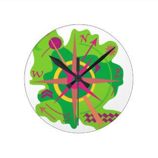 Navigation - green clock