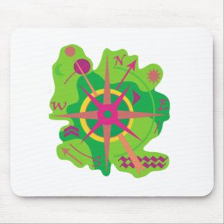 Navigation - green mouse pad
