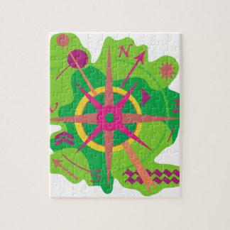 Navigation - green puzzle