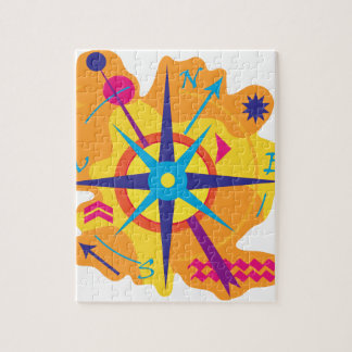 Navigation - orange jigsaw puzzle